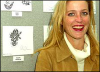 Gillian with one of her doodles